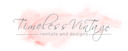 Timeless Vintage Rentals Wedding and Event Rental Logo
